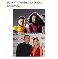 clr: LOOK AT CARMEN & JUNI FROM  SPY KIDS  snbc  mun2  msnbc  NC  CLR NC  THE  TH  20 13  NCLA  NCL  AL