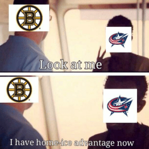 National Hockey League (NHL), Boston, and Home: Look at I  I have home-ice adwantage novw Not sure if home ice is an advantage when playing the Boston Bruins though.