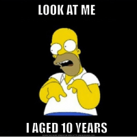 Meme, Reddit, and The Simpsons: LOOK AT ME  I AGED 10 VEARS  DOWNLOAD MEME GENERATOR FROM HTTP://MEMECRUNCH.COM