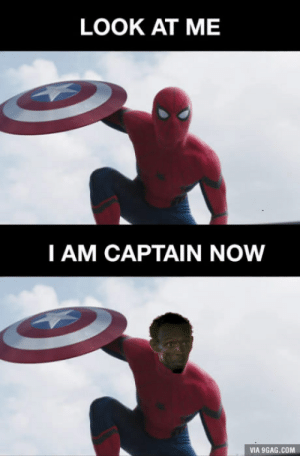 LOOK AT ME  I AM CAPTAIN NOW  VIA 9GAG.COM Spiderman be like
