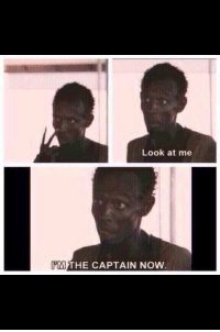 Lebron to Kyrie.: Look at me  IPM THE CAPTAIN NOW Lebron to Kyrie.