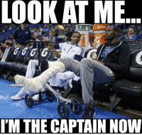 LOOK AT ME  @NBAMEMES  I'M THE CAPTAIN NOW Russell Westbrook after Kevin Durant's recent surgery. Credit: Richie Baah  #Thunder Nation