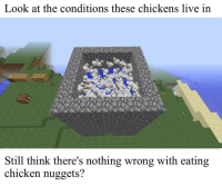 <p>Shocking news: Animal abuse feeds fast food restaurants</p>: Look at the conditions these chickens live in  Still think there's nothing wrong with eating  chicken nuggets? <p>Shocking news: Animal abuse feeds fast food restaurants</p>