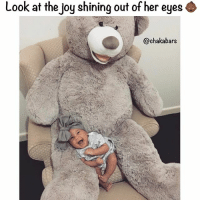Blessed, Memes, and Happy: Look at the joy shining out of her eyes  @chaka bars So happy ❤️ Blessed @babychachacampbell & @frobabies for sharing 👶🏾