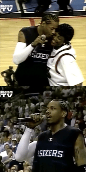 Look at these shots!  19 years ago today, Allen Iverson received the MVP award then dropped 52 PTS (29 in the 1st half) & 7 ASTS on the Raptors. His 8 threes is a 76ers Playoff record. https://t.co/0jq1LwkcJp: Look at these shots!  19 years ago today, Allen Iverson received the MVP award then dropped 52 PTS (29 in the 1st half) & 7 ASTS on the Raptors. His 8 threes is a 76ers Playoff record. https://t.co/0jq1LwkcJp