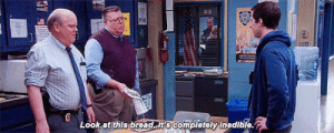 Love, Garlic Bread, and Bread: Look at this bread it's completely inedible. Hitchcock and Scully LOVE Garlic Bread 😋 Can't believe they let the bread get BURNT