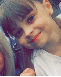 Look at this precious angel that was killed last night. She was only 8. I went to my first concert when I was 8 and I remember it so vividly. it was so new and exciting. One of the best nights of my life. I'm sure she was on such a high after the concert was over, so happy and ecstatic. Having the time of her life. Then tragedy. This girls face, and all the other victims are breaking my heart. Remember them. RIP saffie rose: Look at this precious angel that was killed last night. She was only 8. I went to my first concert when I was 8 and I remember it so vividly. it was so new and exciting. One of the best nights of my life. I'm sure she was on such a high after the concert was over, so happy and ecstatic. Having the time of her life. Then tragedy. This girls face, and all the other victims are breaking my heart. Remember them. RIP saffie rose