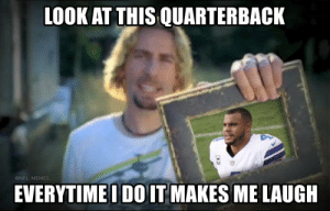 🎶🎵🎶 https://t.co/9by90Fqe9h: LOOK AT THIS QUARTERBACK  @NFL_MEMES  EVERYTIMEI DO IT MAKES ME LAUGH 🎶🎵🎶 https://t.co/9by90Fqe9h