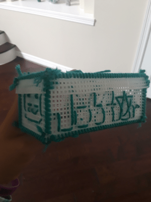 Cute, The Mask, and Mask: Look at what my little sister made me. She misspelled Joestar and tried to stitch the mask on the side. How cute