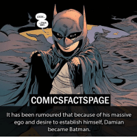 LOOK  I'MA  BAT.  COMICSFACTSPAGE  It has been rumoured that because of his massive  ego and desire to establish himself, Damian  became Batman. I'm back guys. Do u guys like the new layout or ...? Follow Us @comicsfactspage! Please Turn On Your Post Notifications for my account😜👍! -------------------- batman dccomics deadpool like4l l4l like4like likeforlike lfl likes likesforfollow r4r recentsforrecents rfr recent4recent recentforrecent dcuniverse marvel xmen comics SuicideSquad StarWars Spiderman cosplay dc marveluniverse dcu marvel dccomics justiceleague flash mcu