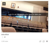 Cã§: look it's all the people who want to date you  -officia  Ca  oh  3,782 notes