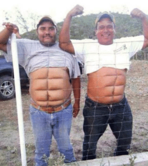 Six Pack, Look, and  Pack: Look, my instant six-pack!