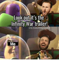 Memes, Infiniti, and Marvel: Look out it's the  Infiniti-war tralerl  one.more.thing.sputnik  Me Marvel right now 😂 Via @one.more.thing.sputnik