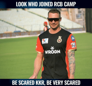 Dale Steyn joined RCB camp for IPL 2019.  (Pic : Instagram): LOOK WHO JOINED RCB CAMP  IL  WROGN  BE SCARED KKR, BE VERY SCARED Dale Steyn joined RCB camp for IPL 2019.  (Pic : Instagram)