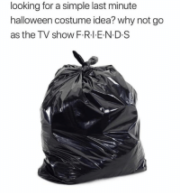 Dank, Halloween, and 🤖: looking for a simple last minute  halloween costume idea? why not go  as the TV show F.R.I E N D.S That ain't right