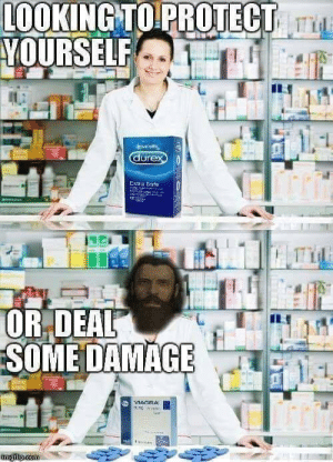 Damage, Deal, and Protect: LOOKINGTO PROTECT  YOURSELF  OR,DEAL  SOME DAMAGE A lotta damage