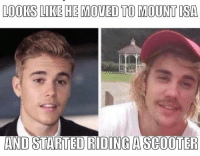 Scooter, True, and Isa: LOOKS LIKE HE MOVED TO MOUNT ISA  AND STARTED RIDING A SCOOTER This feels so true
