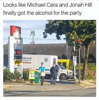 Jonah Hill, Memes, and Michael Cera: Looks like Michael Cera and Jonah Hill  finally got the alcohol for the party  ferred  ORATION  24  10 If she doesn't get this reference, she's too young for you bro 😂