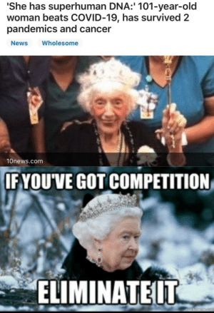 Looks like the Queen doesn't like compitition: Looks like the Queen doesn't like compitition