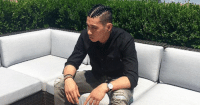 Looks like years of hanging with black men has really rubbed off on Jeremy Lin.: Looks like years of hanging with black men has really rubbed off on Jeremy Lin.
