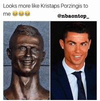 Bad, Kristaps Porzingis, and Memes: Looks more like Kristaps Porzingis to  me  Canbaontop They messed up real bad 😂😂😂😂