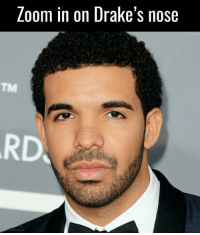 Memes, 🤖, and Loom: Loom in on Drake's nose  and corner  U a bitch