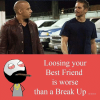 Twitter: BLB247 Snapchat : BELIKEBRO.COM belikebro sarcasm meme Follow @be.like.bro: Loosing your  Best Friend  is worse  than a Break Up Twitter: BLB247 Snapchat : BELIKEBRO.COM belikebro sarcasm meme Follow @be.like.bro