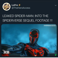 YOOOO... tag 2 people to spoil the film 🤫 - - - - - marvel mcu marvelcomics dc dceu dccomics movies popculture media entertainment funny comedy ironman captainamerica spiderman blackpanther superman batman theflash wonderwoman aquaman twitter tv viral comics hero superhero milesmorales spiderverse: LoPro  @TheHeroAcces:s  HERO  LEAKED SPIDER-MAN: INTO THE  SPIDERVERSE SEQUEL FOOTAGE!!  @HEROACCESS YOOOO... tag 2 people to spoil the film 🤫 - - - - - marvel mcu marvelcomics dc dceu dccomics movies popculture media entertainment funny comedy ironman captainamerica spiderman blackpanther superman batman theflash wonderwoman aquaman twitter tv viral comics hero superhero milesmorales spiderverse