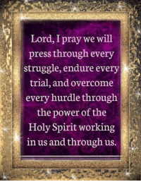 Memes, 🤖, and Holi: Lord, Ipray we  will  press through every  struggle, endure every  trial, and overcome  every hurdle through  the power of the  Holy Spirit working  in us and through us