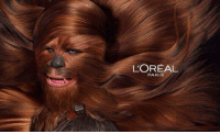 Chewbacca, Star Wars, and Paris: L'OREAL  PARIS Because you're Wookie it - Chewbacca