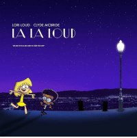 """Here's to the ones who dream ❤️ Catch Lori and Clyde in their newest fakemovie, La La Loud 😂 theloudhouse: LORI LOUD. CLYDE MCBRIDE  LA LA LOUD  """"NONEED TOPUSHAND SHOE TO SHOW YOUR LONE Here's to the ones who dream ❤️ Catch Lori and Clyde in their newest fakemovie, La La Loud 😂 theloudhouse"""