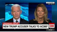 """""""Next thing I know, there's a hand up my skirt"""" Kristin Anderson joins Anderson Cooper, sharing details of a 1990's encounter with Donald J. Trump at an #NYC nightclub http://cnn.it/2dQVQcc: Los Angeles  5:05 PM PT  BREAKING NEWS  NEW TRUMP ACCUSER TALKS TO AC360°  CNN  5:05 PM PT  AC360° """"Next thing I know, there's a hand up my skirt"""" Kristin Anderson joins Anderson Cooper, sharing details of a 1990's encounter with Donald J. Trump at an #NYC nightclub http://cnn.it/2dQVQcc"""