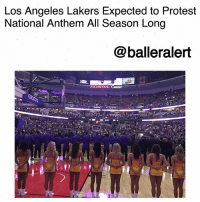 """Community, Espn, and Los Angeles Lakers: Los Angeles Lakers Expected to Protest  National Anthem All Season Long  @balleralert  ONDA Los Angeles Lakers Expected to Protest National Anthem All Season Long-blogged by @thereal__bee ⠀⠀⠀⠀⠀⠀⠀⠀⠀ ⠀⠀ Since Trump's provocative statements about firing athletes who protest, NBA coaches and players have decided to fight back by protesting the anthem for the entire season. ⠀⠀⠀⠀⠀⠀⠀⠀⠀ ⠀⠀ During the league's first preseason game on Saturday, the Denver Nuggets, along with the Los Angeles Lakers and Minnesota Timberwolves, all stood with arms locked during the anthem. ⠀⠀⠀⠀⠀⠀⠀⠀⠀ ⠀⠀ """"We are in this together,"""" Lakers coach Luke Walton said about the team's decision to protest, via ESPN. """"I think they chose to show that we are united in this and that obviously, they have a ton of respect ... well, I will let them speak for themselves, but I have a ton of respect for the country, the flag, the military. ⠀⠀⠀⠀⠀⠀⠀⠀⠀ ⠀⠀ """"But by locking arms, I feel like we are showing that there are issues in this country, and it is a chance for us to raise awareness and still make it a talking point. If you do nothing, then it kind of goes away, and if it goes away, then nothing changes. ⠀⠀⠀⠀⠀⠀⠀⠀⠀ ⠀⠀ """"... I see it as an every night thing but I guess time will tell."""" ⠀⠀⠀⠀⠀⠀⠀⠀⠀ ⠀⠀ Before the preseason, the NBA sent out a memo to all 30 teams reminding players and coaches of the long-standing rule that that players, coaches and trainers must stand """"in a dignified posture"""" during the national anthem. ⠀⠀⠀⠀⠀⠀⠀⠀⠀ ⠀⠀ """"It is important for me, for the players and for our country to continue to talk and be active and get out in the community and do things that makes this country better and equal for opportunities and for everybody that lives here,"""" Walton said. """"I think that is why the players and team decided to do that."""""""