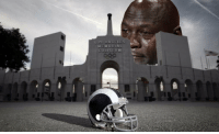 Los Angeles, Jeff Fisher, and City: LOS ANGELES  MEMORIAL  COLISEUM The city of Los Angeles waking up this morning after hearing Jeff Fisher signed a 2 year extension 😂😂😂😂😂 https://t.co/1kXadGAnQX