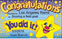 https://t.co/C2IepYoCCN: Los Angeles R  ams  presented to  for Scoring a field goal  2/3/2019  Super Bowl LIll  ん.gned  are https://t.co/C2IepYoCCN