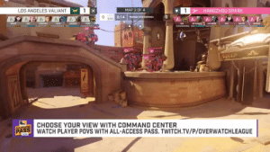 mothbread:  he's crouching to the beat…superb…: LOS ANGELES VALIANT  MAP 3 OF4  HANGZHOU SPARK  0:14 Is  CHOOSE YOUR VIEW WITH COMMAND CENTER  PASS WATCH PLAYER POVS WITH ALL-ACCESS PASS.TWITCH.TV/P/OVERWATCHLEAGUE mothbread:  he's crouching to the beat…superb…