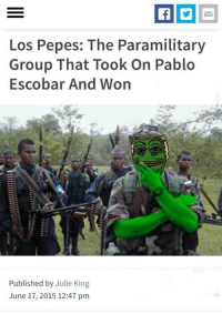 Los Pepes will help us confiscate wealth from the Narcos so we can BUILD THE WALL!: Los Pepes: The Paramilitary  Group That Took On Pablo  Escobar And Won  Published by Julie King  June 17, 2015 12:47 pm Los Pepes will help us confiscate wealth from the Narcos so we can BUILD THE WALL!