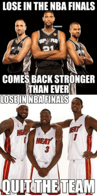 San Antonio Spurs vs. Miami Heat! #Spurs Nation #Heat Nation Credit: Chris Herrera: LOSE IN THE NBA FINALS  COMES BACK STRONGER  THAN EVER  LOSE IN NBA FINALS  QUITTHETEAM San Antonio Spurs vs. Miami Heat! #Spurs Nation #Heat Nation Credit: Chris Herrera