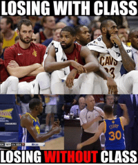 Warriors Nation vs. Cavs Nation.: LOSING WITH CLASS  NI  ONBAMEMES  RY  30%  EM 107 STH 43.4  4TH 43.6 24  NBA.com  LOSING  TCLASS Warriors Nation vs. Cavs Nation.