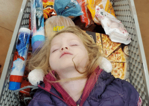 My daughter fell asleep in the cart at the grocery store last night and she totally looked like a fallen viking warrior being sent out to sea.: Lotange My daughter fell asleep in the cart at the grocery store last night and she totally looked like a fallen viking warrior being sent out to sea.