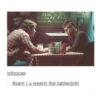 Dogs, Funny, and Lol: lothocas:  #sam r u wearin the tablecloth It's been like 7 hours and I've already cried because I miss my dogs so much. It'll probably be another 3 months until I see them. . . . . . . . supernatural spnfamily spnfandom deanwinchester jensenackles jaredpadalecki samwinchester mishacollins castiel supernaturalfandom padalecki crowley marksheppard lol supernaturalfamily funny impala 1967impala jensen jared misha j2m jensenandjared spn akf yana supernaturalfacts samulet