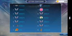 Countdown, Memphis Grizzlies, and Lottery: LOTTERY COUNTDOWN  2590  PELICANS  8 e) GRIZZLIES  2 HORMEIS HORNETS  9 (#THAI PISTONS  3 HORNEİS HORNETS  10 HORINETs HORNETS  4HOREs HORNETS  11  CELTICS  5 HORnEiS HORNETS  12 HORTNETs HORNETS  MAGIC  13 HORNEIS HORNETS  SUNS  14  CAVALIERS  NEXT Thanks 2k19!