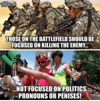 America, Facebook, and Friends: LOUDER  CROWDER.COM  THOSE ON THE BATTLEFIELD'SHOULD BE  FOCUSED ON KILLING THE ENEMY.  NOT FOCUSED ON POLITICS  e劗./-PRONOUNS OR PENISESI The military is not an equal opportunity employer. The military denies service to lots of people for lots of reasons that might affect their ability to serve in combat. LIKE & TAG YOUR FRIENDS ------------------------- 🚨Partners🚨 😂@the_typical_liberal 🎙@too_savage_for_democrats 📣@the.conservative.patriot Follow: @rightwingsavages & Like us on Facebook: The Right-Wing Savages Follow my backup page @tomorrowsconservatives -------------------- conservative libertarian republican democrat gop liberals maga makeamericagreatagain trump liberal american donaldtrump presidenttrump american 3percent maga usa america draintheswamp patriots nationalism sorrynotsorry politics patriot patriotic ccw247 2a 2ndamendment lgbt transgender