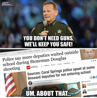 cnn.com, Guns, and Police: LOUDER  CROWDER.coM  YOU DONT NEED GUNS  WE'LL KEEP YOU SAFE!  TRENDING SPORTS OPİNİON EVENTS.EATS LOCAL TODArs rrv  Y FEB. 24, 2018  Police say more deputies waited outside  school during Stoneman Douglas  politics CONGRESS SECURIYTENINE TRUMPMERICA 2018  Sources: Coral Springs police upset at some  Broward deputies for not entering school  By Jake Tapper, Anchor and Chief Washington Correspondent  Updated 10:01 AM ET, Sat February 24, 2018  MORE FROM CNN  WPTV/Palm Beach Count  University serves Kool-Ai  watermelon water for Bla  UM, ABOUT THAL-DC.  Ouincy Jones sorry for  filter in two viral intervi  FE SCOT  Drive over 700