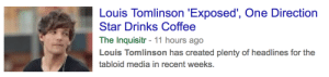 Bitch, Drinking, and One Direction: Louis Tomlinson 'Exposed', One Direction  Star Drinks Coffee  The Inquisitr - 11 hours ago  Louis Tomlinson has created plenty of headlines for the  tabloid media in recent weeks. erinsbreakfast:  fuckin EXPOSE that coffee-drinking bitch. go off