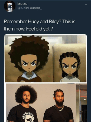 Old, Refused, and Them: loulou  @AlainLaurent_  Remember Huey and Riley? This is  them now. Feel old yet?  ANTH They are the stones that the builder refused