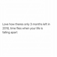 Funny, Life, and Love: Love how theres only 3 months left in  2018, time flies when your life is  falling apart I'm zooming over here🏃🏼‍♀️💨