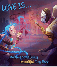 Memes, 🤖, and League of Legend: LOVE IS  king something  beautiful together! League of Legends is my Valentine xxxxxxx who's yours? 💘 - follow @mystical.ashe (me) for more 🎮