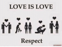 memes about love: LOVE IS LOVE  Respect