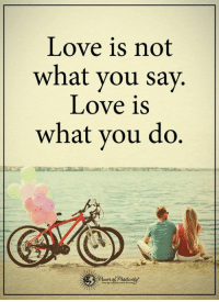 Ex's, Memes, and What You Doing: Love is not  what you say.  Love is  what you do If you've ever wanted to make your ex crave to have you back, I'll show you exactly what to do and what to say to get your ex lover back in your arms… http://bit.ly/love3ways